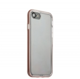 Чехол & бампер силиконовый прозрачный для iPhone SE (2020г.) в техпаке Розовое золото борт