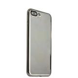 Супертонкий силиконовый чехол - накладка для iPhone 8 Plus TAJA, цвет прозрачный (серебристый ободок)