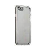 Чехол & бампер силиконовый прозрачный для iPhone 8 (4.7) в техпаке Space grey «Серый космос» борт