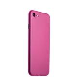 Супертонкий пластиковый чехол - накладка для iPhone 8 ICSES (0.3 мм), цвет розовый матовый