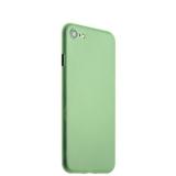 Супертонкий пластиковый чехол - накладка для iPhone 8 ICSES (0.3 мм), цвет салатовый матовый