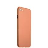 Супертонкий пластиковый чехол - накладка для iPhone 7 ICSES (0.3 мм),цвет оранжевый матовый