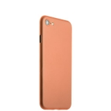 Супертонкий пластиковый чехол - накладка для iPhone 8 ICSES (0.3 мм), цвет оранжевый матовый