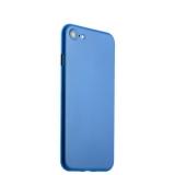 Супертонкий пластиковый чехол - накладка для iPhone 8 ICSES (0.3 мм), цвет голубой матовый