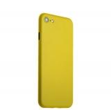Супертонкий пластиковый чехол - накладка для iPhone 8 ICSES (0.3 мм), цвет желтый матовый