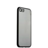 Супертонкий пластиковый чехол - накладка для iPhone 8 ICSES, цвет прозрачный (черный борт)
