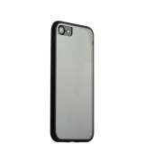 Супертонкий пластиковый чехол - накладка для iPhone 7 ICSES,цвет прозрачный (черный борт)