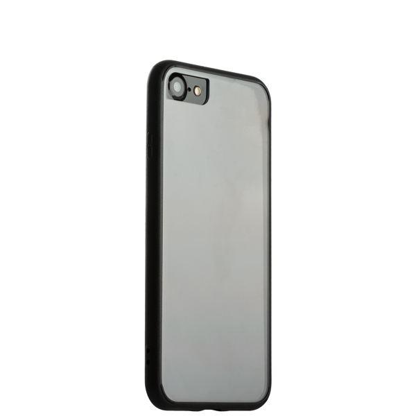 Накладка пластиковая прозрачная для iPhone 8 (4.7) в техпаке черный борт