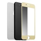 Стекло защитное для iPhone 8 Plus/ 7 Plus (5.5) Gold 2в1 (зеркальное-глянцевое, 2 стороны) Золотистое