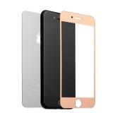 Зеркальное матовое Защитное стекло для iPhone 7 Plus / 8 Plus (2в1) Rose gold, цвет розовое золото