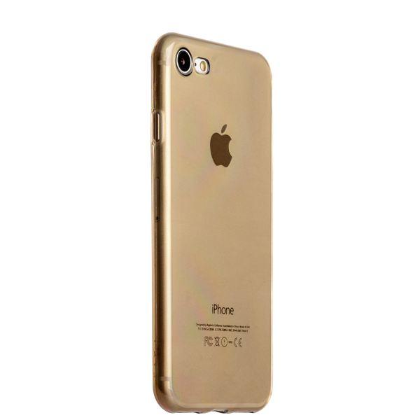 Чехол силиконовый для iPhone 8 (4.7) супертонкий в техпаке (прозрачно-чёрный)