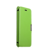 Кожаный чехол - книжка для iPhone 8 Plus iCarer Luxury Series Side - open, цвет зеленый