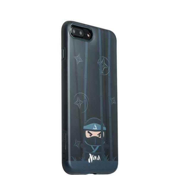 Накладка пластиковая iBacks Ninja PC Case для iPhone 8 Plus (5.5) - (ip70008) Black Черная