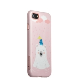 Набор iBacks Lady's 2-piece Suit - Сонный Медведь зеркало & гребень & накладка для iPhone 8 (4.7) - (ip70002) Розовый