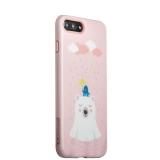 Пластиковый чехол для iPhone 8 Plus iBacks Lady's 2 - piece Suit + зеркальце и гребель с рисунком Сонный медведь, цвет розовый