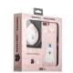 Набор iBacks Lady's 2-piece Suit - Сонный Медведь зеркало & гребень & накладка для iPhone 8 Plus (5.5) - (ip70003) Розовый