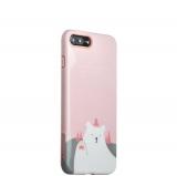 Пластиковый чехол для iPhone 8 Plus iBacks Lady's 2 - piece Suit + зеркальце и гребель с рисунком Приветствие Медведя, цвет розовый