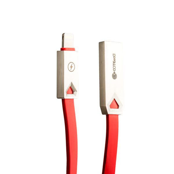 Lightning кабель USB COTEetCI M26 FLAT series Flat Cable CS2140 - RD (1.2 м), цвет красный