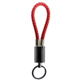 USB дата-кабель-брелок COTEetCI M18 FASHION series Lightning Keychain Cable (MFI) CS2133-RD (0.25m) красный
