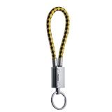 MicroUSB кабель брелок COTEetCI M33 FASHION series Keychain Cable CS2146 - BY (0.25 м), черный / желтый