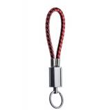 MicroUSB кабель брелок COTEetCI M33 FASHION series Keychain Cable CS2146 - BR (0.25 м), цвет черный / красный