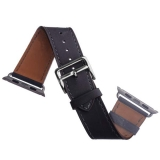 Кожаный ремешок для Apple Watch (40 mm) COTEetCI W8 DECOROUS (WH5207 - GY) классическая пряжка Storm Gray, цвет темно - серый