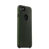 Силиконовый чехол - накладка для iPhone 7 COTEetCI Vogue Silicone Case (CS7023 - BK - GR),цвет черный / зеленый