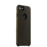 Силиконовый чехол - накладка для iPhone 7 COTEetCI Vogue Silicone Case (CS7023 - BK - OR),цвет черный / оранжевый