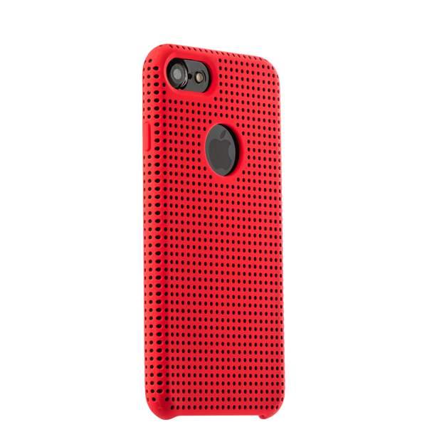Чехол-накладка силиконовый COTEetCI Vogue Silicone Case для iPhone 8 (4.7) CS7023-RD-BK Красный/ Черный