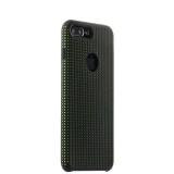 Силиконовый чехол - накладка для iPhone 7 Plus COTEetCI Vogue Silicone Case (CS7025 - BK - GR), цвет черный / зеленый