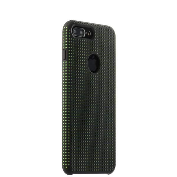 Чехол-накладка силиконовый COTEetCI Vogue Silicone Case для iPhone 8 Plus (5.5) CS7025-BK-GR Черный/ Зеленый