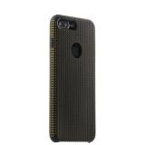 Силиконовый чехол - накладка для iPhone 7 Plus COTEetCI Vogue Silicone Case (CS7025 - BK - OR), цвет черный / оранжевый