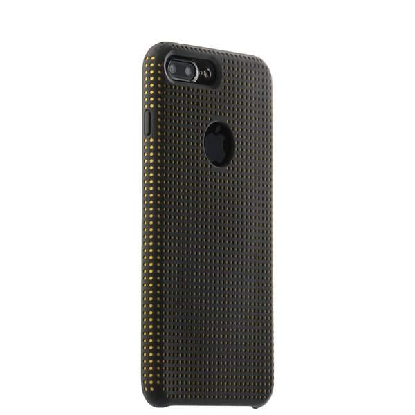 Чехол-накладка силиконовый COTEetCI Vogue Silicone Case для iPhone 8 Plus (5.5) CS7025-BK-OR Черный/ Оранжевый
