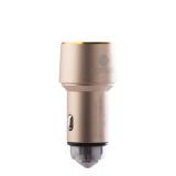 Автомобильное зарядное устройство COTEetCI Double USB Car Charger Bullet CS2013 - CE (3.6A), цвет золотистый