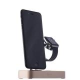 Док - станция для Apple Watch & iPhone COTEetCI Base B18 MFI stand (CS7200 - CEG) c USB - Hub, цвет золотистый