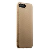 Пластиковый ультра - тонкий чехол накладка для iPhone 8 Plus Peacocktion Phantom series (HYIIP7 - GLD), цвет золотистый