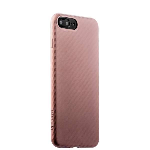 Накладка (карбон) ультра-тонкая Phantom series (HYIIP7-LPK) для iPhone 8 Plus (5.5) Розовое золото
