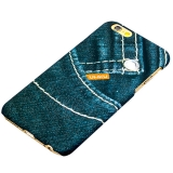 Пластиковый чехол - накладка для iPhone 6S Umku Jeans Soft - touch вид 4