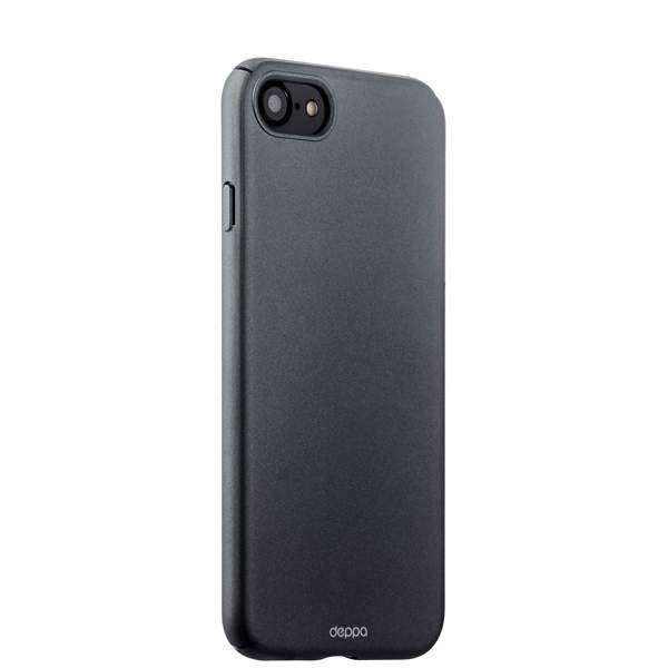 Чехол-накладка пластик Soft touch Deppa Air Case D-83269 для iPhone 8 (4.7) 1 мм Графитовый