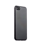 Чехол-накладка силикон Deppa Gel Plus Case D-85253 для iPhone SE (2020г.) 0.9 мм Черный глянцевый борт