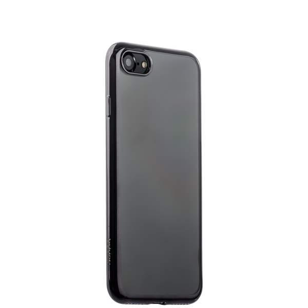 Чехол-накладка силикон Deppa Gel Plus Case D-85253 для iPhone 8 (4.7) 0.9 мм Черный глянцевый борт