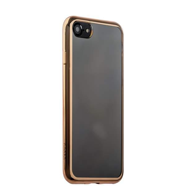 Чехол-накладка силикон Deppa Gel Plus Case D-85256 для iPhone 8 (4.7) 0.9 мм Золотистый глянцевый борт