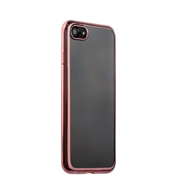 Чехол-накладка силикон Deppa Gel Plus Case D-85257 для iPhone 8 (4.7) 0.9 мм Розовое золото глянцевый борт