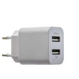 Сетевое зарядное устройство Deppa Ultra D - 11306 (USB: 5V 1A & 5V 2.1A) + кабель Lightning (1.2 м), цвет белый