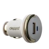 Автомобильное зарядное устройство Deppa Ultra D-11208 (витой дата-кабель c разъемом 8-pin Lightning 5V 1.2A) 1.5 м Белый