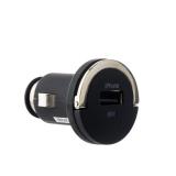 Автомобильное зарядное устройство Deppa Ultra MFI D - 11251 (5V 1.2A) + витой Lightning кабель (1.5 м), цвет черный