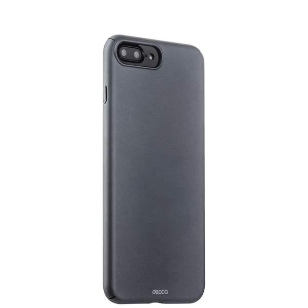 Чехол-накладка пластик Soft touch Deppa Air Case D-83274 для iPhone 8 Plus (5.5) 1 мм Графитовый