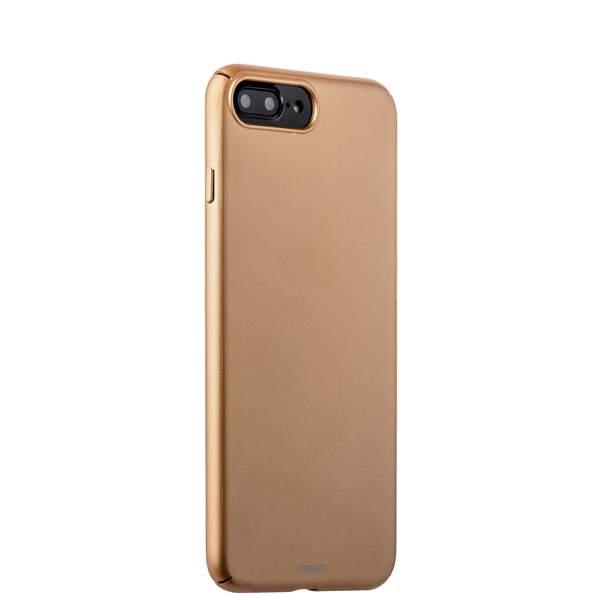 Чехол-накладка пластик Soft touch Deppa Air Case D-83275 для iPhone 8 Plus (5.5) 1 мм Золотистый