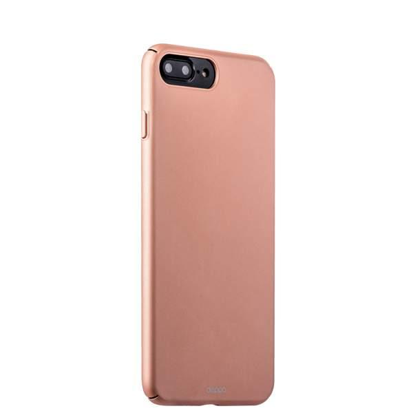 Чехол-накладка пластик Soft touch Deppa Air Case D-83276 для iPhone 8 Plus (5.5) 1 мм Розовое золото