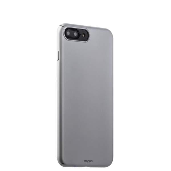 Чехол-накладка пластик Soft touch Deppa Air Case D-83273 для iPhone 8 Plus (5.5) 1 мм Серебристый